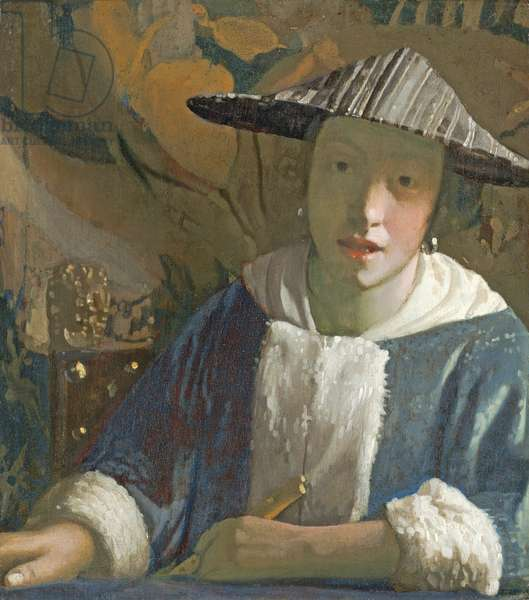Young Girl with a Flute, c.1665-70 (oil on panel)