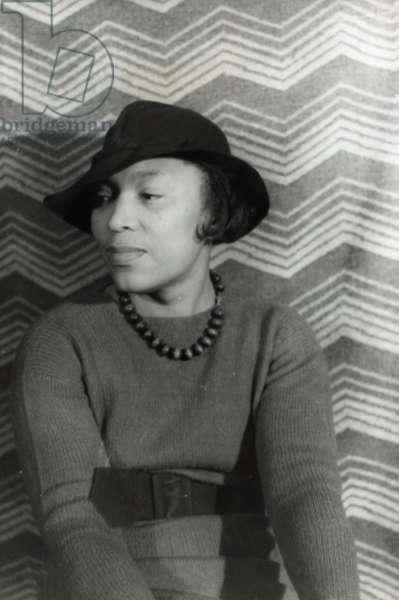 Zora Neale Hurston, 1938 (b/w photo)