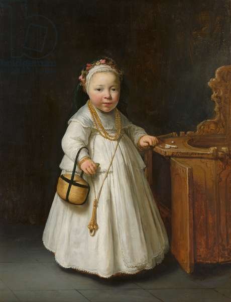 Girl by a High Chair, 1640 (oil on canvas)