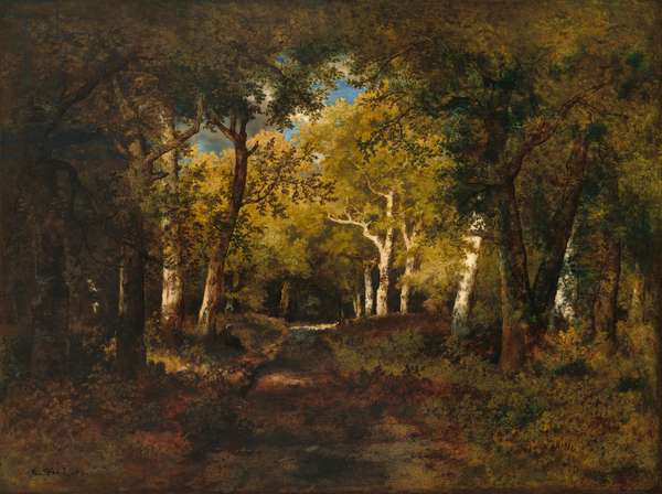 In the Forest, 1874 (oil on wood)