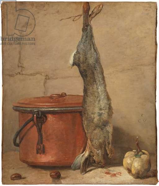 Rabbit and Copper Pot c.1739-40  (oil on canvas)
