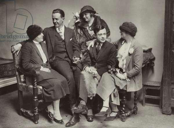 Avant-garde group in Paris, c.1925 (b/w photo)