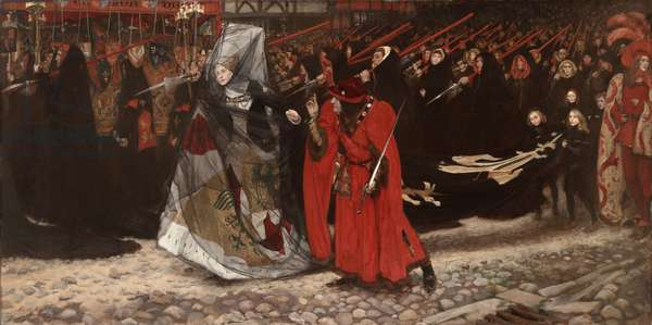 Richard, Duke of Gloucester, and the Lady Anne, 1896 (oil on canvas)