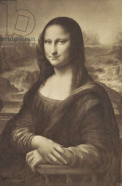 Millet's Drawing of the Mona Lisa, 1854-55 (albumen silver print)