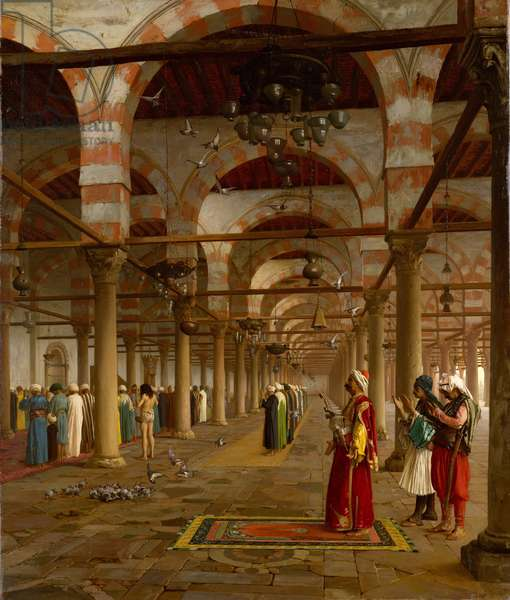 Prayer in the Mosque, 1871 (oil on canvas)