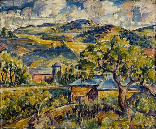 Maine Landscape, c.1917-21 (oil on canvas)