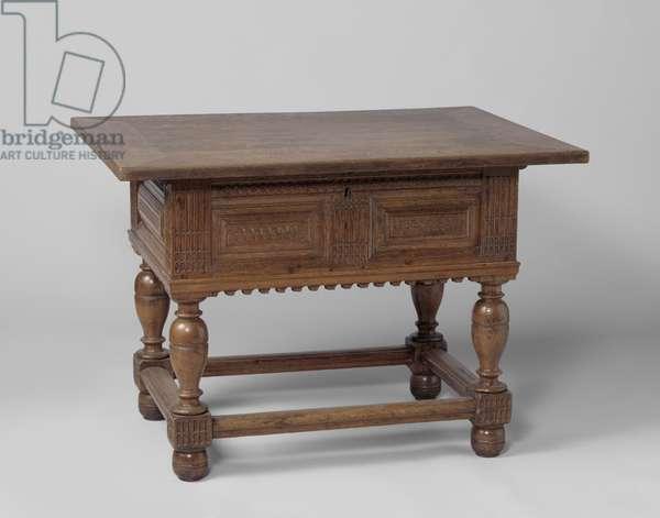 Pay table, c.1600-50 (oak)