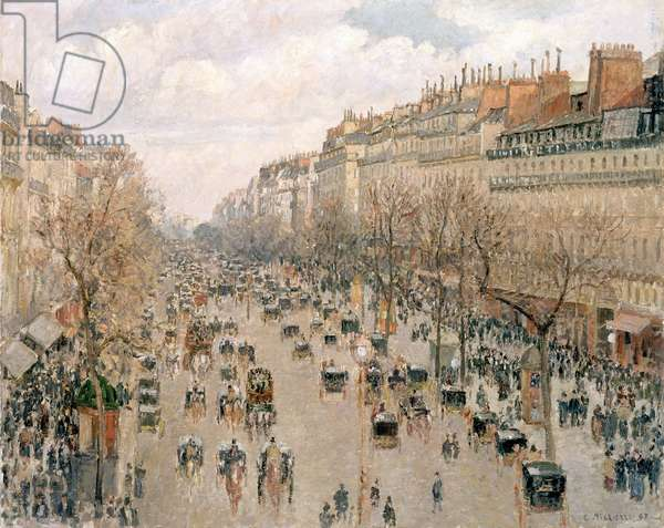 Boulevard Montmartre, Afternoon Sun, 1897 (oil on canvas)