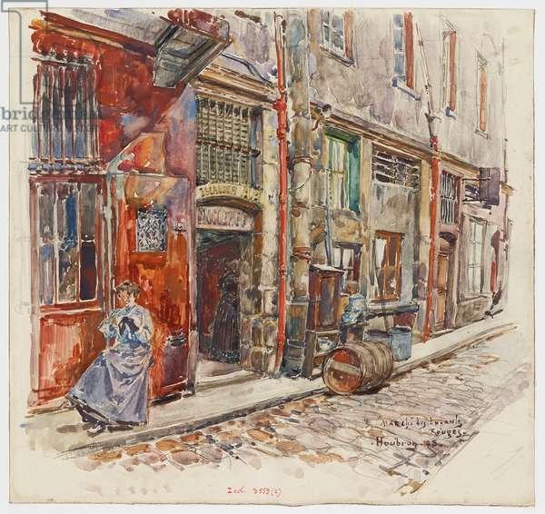 Entrée escalier A du Marché des Enfants-Rouges, 1908 (w/c on paper)