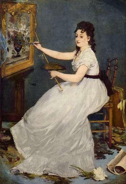 Portrait of Eva Gonzales (1849-83) 1870 (oil on canvas)