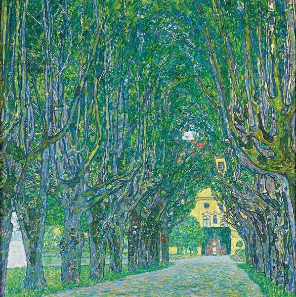 Avenue of Schloss Kammer Park, 1912 (oil on canvas)