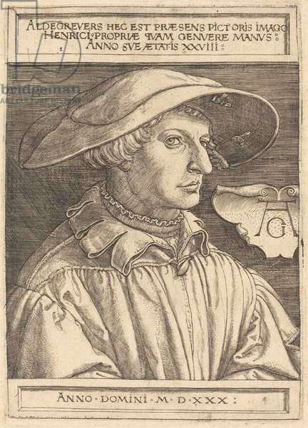 Self-Portrait, 1530 (engraving)