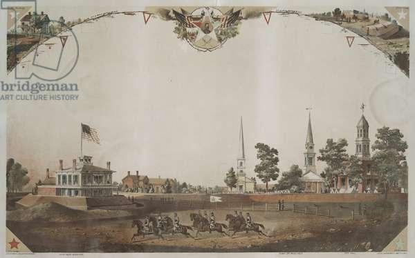 View of public square, Atlanta, Georgia, 1864 (chromolitho)