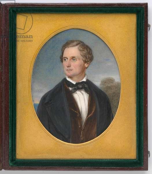 Jefferson Davis (1808-1889), 1849 (w/c on ivory)