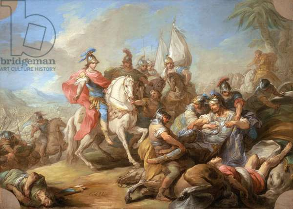 The Victory of Alexander over Porus, c.1738 (oil on canvas)