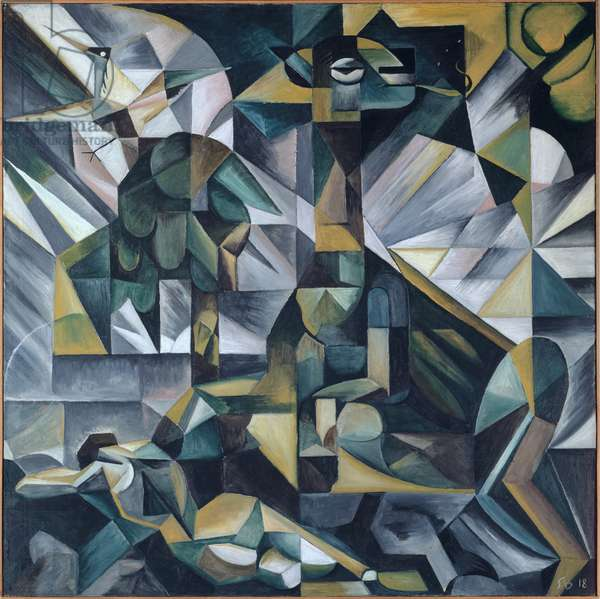Fate (Dedicated to my First Wife), 1918 (oil on canvas)