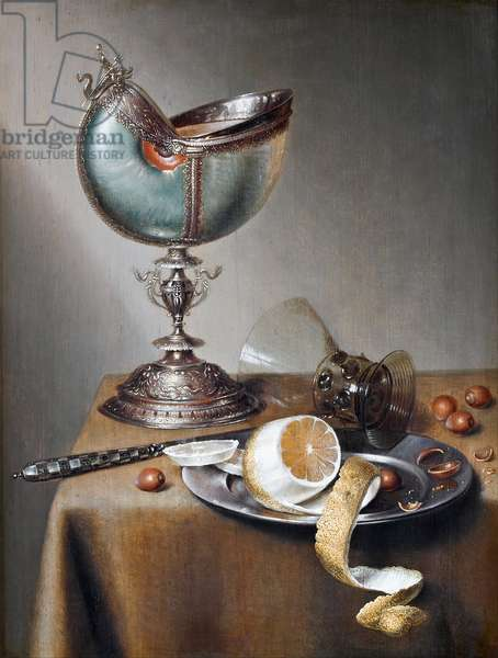 Still-Life with Nautilus Cup, c.1650 (oil on panel)
