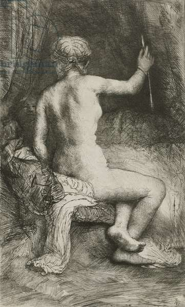 The Woman with the Arrow, 1661 (etching)