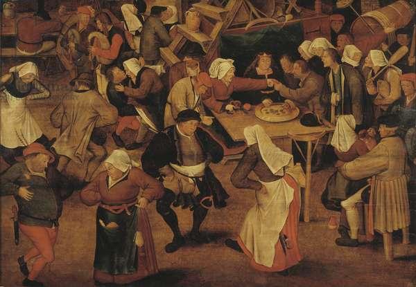 The Wedding Dance (oil on panel)