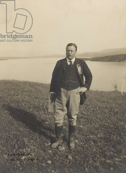 Theodore Roosevelt at Roosevelt, Arizona c.1911 (b/w photo)