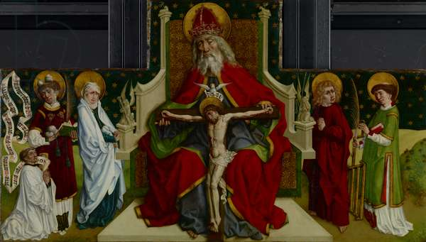 The Trinity with the Virgin, Saints John the Evangelist, Stephen and Lawrence and a Donor, 1479 (oil on panel)