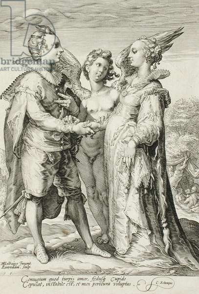 Marriage for Pleasure, Plate 1 of The Marriage Trilogy, c.1594 (engraving)