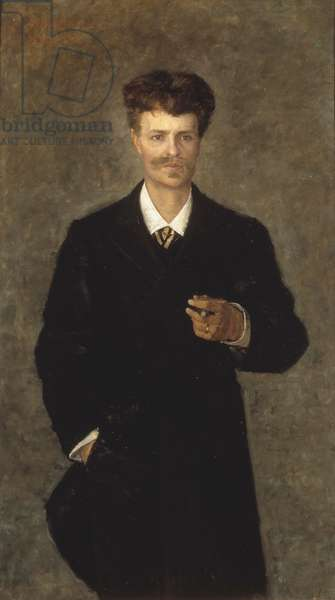 August Strindberg, 1885 (oil on canvas)