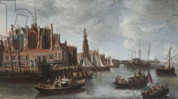 View of Nieuwe Kerk in Amsterdam (oil on canvas)