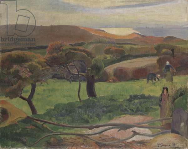 Landscape from Bretagne, 1889 (oil on canvas)