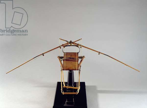 Model reconstruction of da Vinci's design for a flying machine (wood, leather & string)