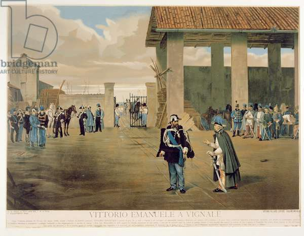 The Armistice of Vignale (colour litho)