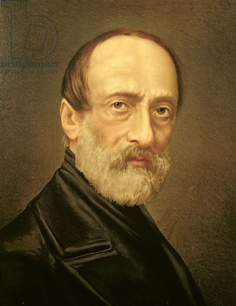 Portrait of Giuseppe Mazzini (oil on canvas)