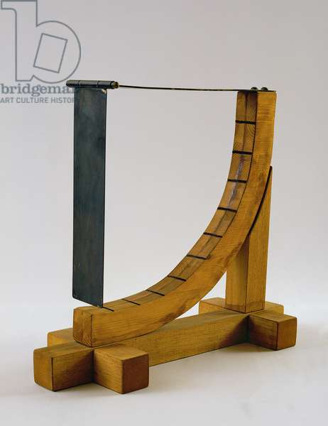 Reconstruction of da Vinci's design for an anemometer (wood & metal)