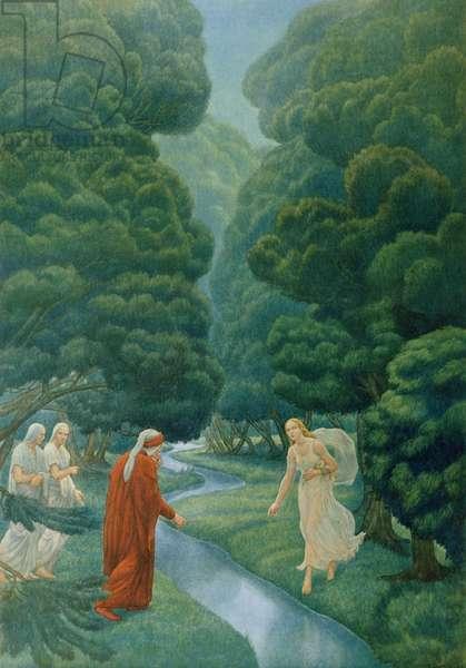 Illustration from Dante's 'Divine Comedy', Purgatory, Canto XXVIII, 1923 (colour litho)