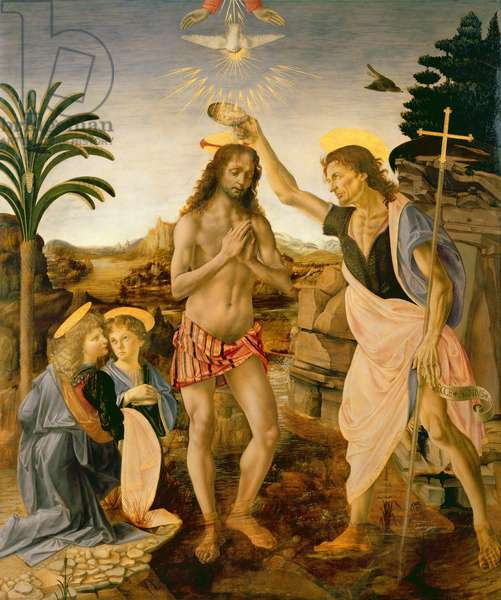 The Baptism of Christ by John the Baptist, c.1475 (oil on panel)