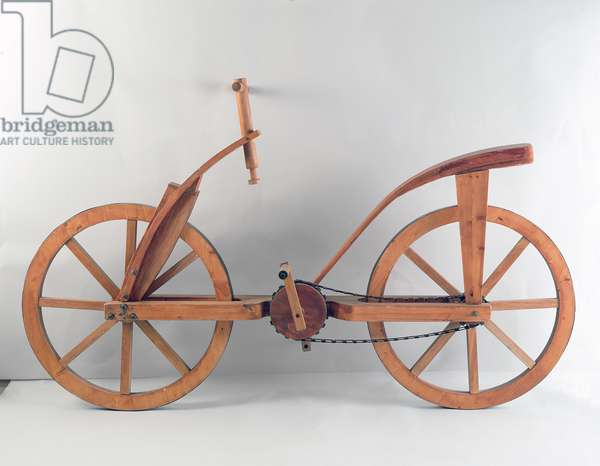 Reconstruction of da Vinci's design for a bicycle (wood)