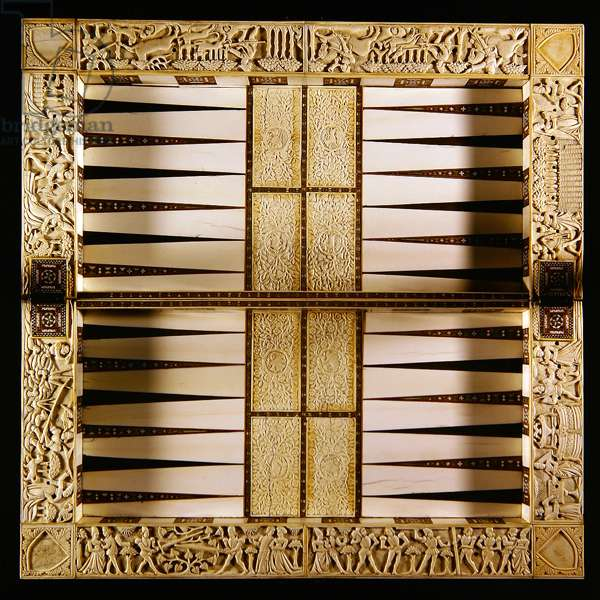 Backgammon (ebony, ivory & iron)
