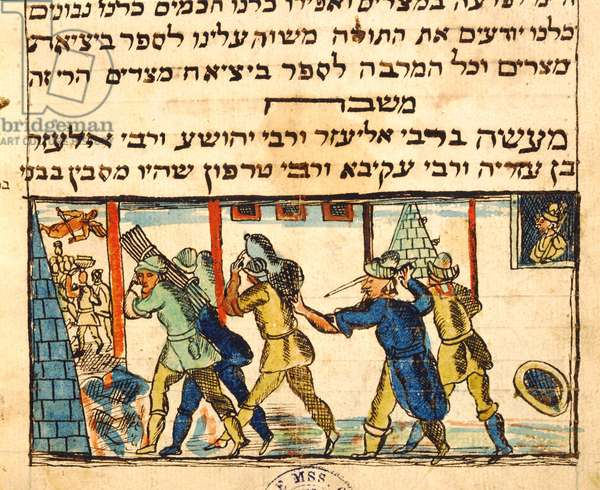 Ms.C.A.2795 Enslavement of the Jewish People, from the Story of the Jewish People (vellum)