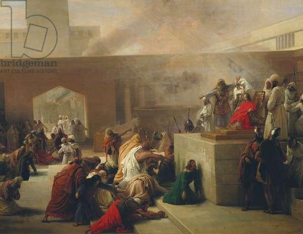 The Coronation of Joas, 1839 (oil on canvas)