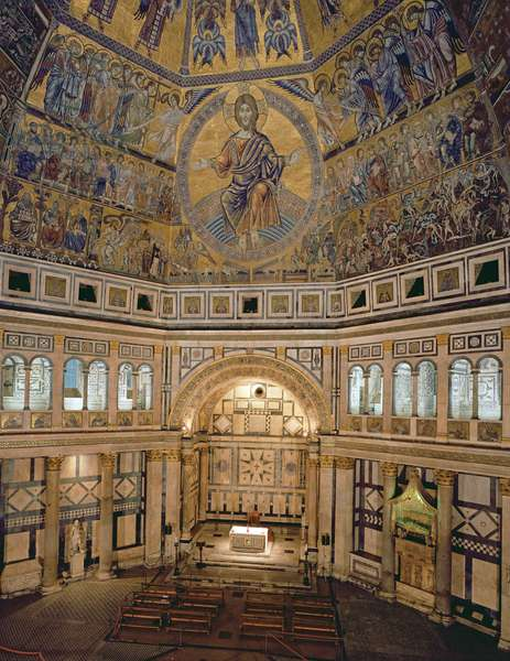 Interior view of the Florence Baptistery (photo)