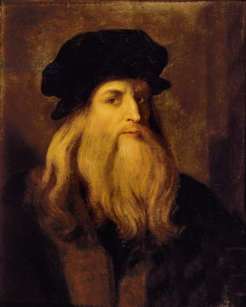 Portrait of a man, presumed to be Leonardo da Vinci (oil on canvas)