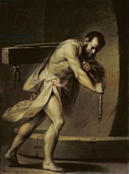 Samson in the treadmill, 1754 (oil on canvas)