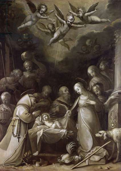 Adoration of the Shepherds, 1636 (oil on canvas)