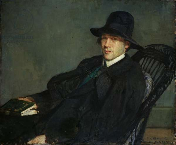 Portrait of Andre Gide (1869-1951) 1912 (oil on canvas)