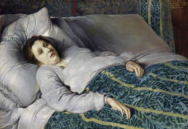 Young Woman on her Death Bed, 1621 (oil on canvas)