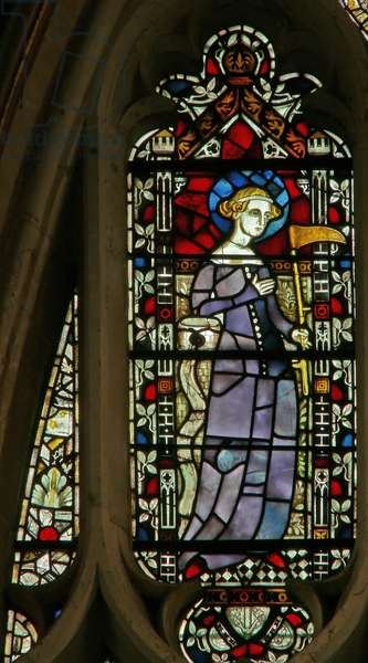Window depicting St. Sidwell (stained glass)