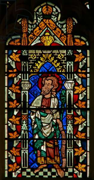 Window depicting Moses (stained glass)