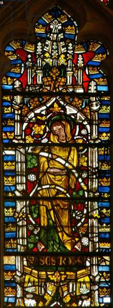 Window depicting St. John on the Tree of Jesse (stained glass)