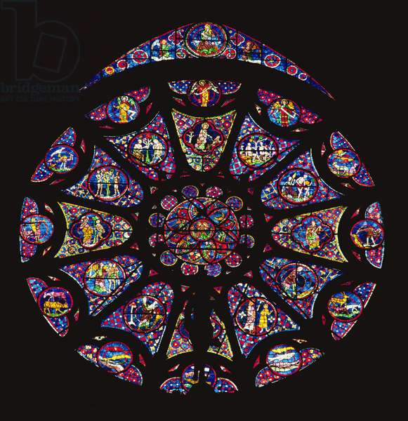 North rose window (stained glass)