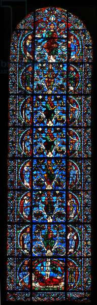 The Tree of Jesse, c.1150 (stained glass)